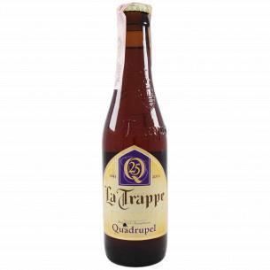 Пиво La Trappe Quadrupel янтарное нефильтрованное