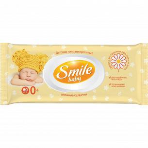 Салфетки влажные Smile Baby экст ромашки/алоэ клап