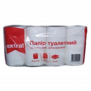 Бумага туалетная Extra! белая 2-слойная