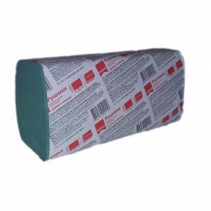 Полотенца бумажные Extra! зеленые 1-слой 160 листов