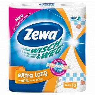 Полотенце бумажные Zewa Wisch&Weg Original Extra Lang 2 слоя