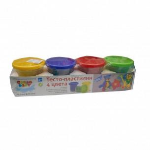Набор для детского творчества Genio Kids Тесто-пластилин 4 цвета
