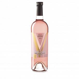 Вино Villa Krim Мускат Ривьера розовое полусладкое