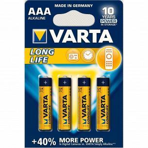 Батарейка VARTA LONGLIFE AAA BLI 4 ALKALINE
