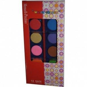 Краски акварельные Memoris-Precious 12 цветов и 1 кисточка D-01