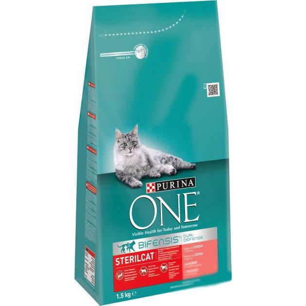 Корм для котів ONE Sterilcat з лососем / '1,5кг