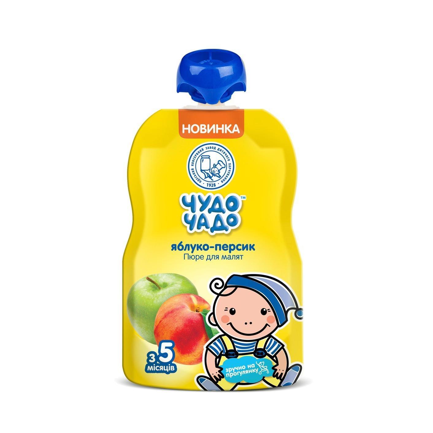 Пюре Чудо-Чадо яблучно-персикове з цукром / '90г