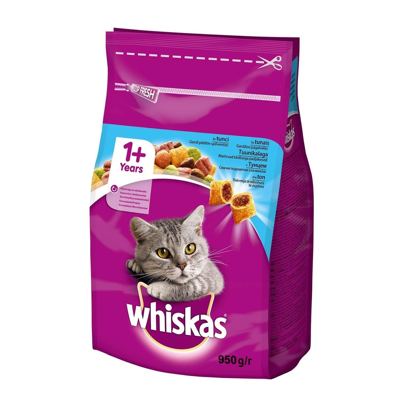 Корм для котів Whiskas з тунцем сухий / '950г