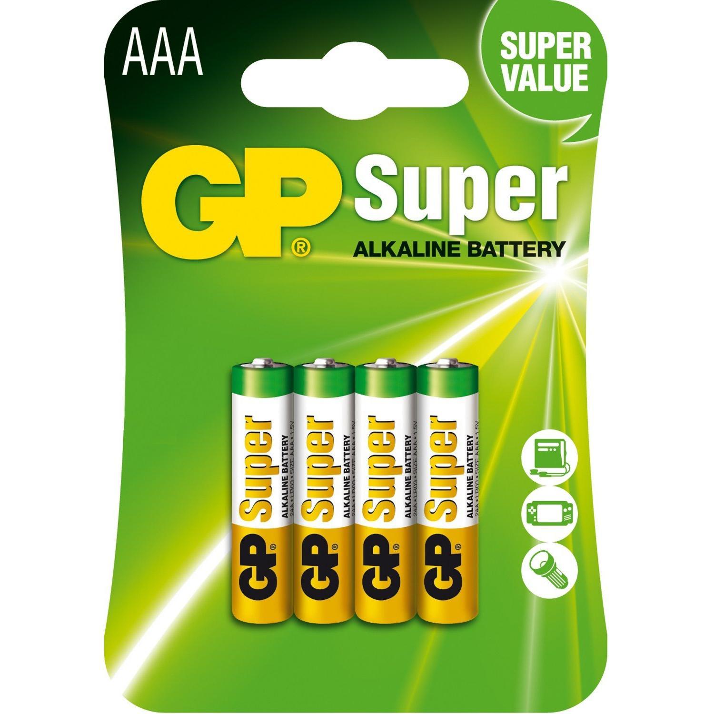 Батарейки GP SUPER 24A-U4шт, ААА / 'шт
