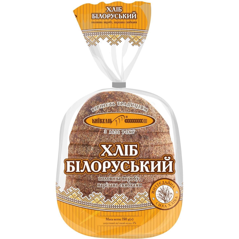 Хліб Київхліб Білоруський подовий нарізаний / '350г