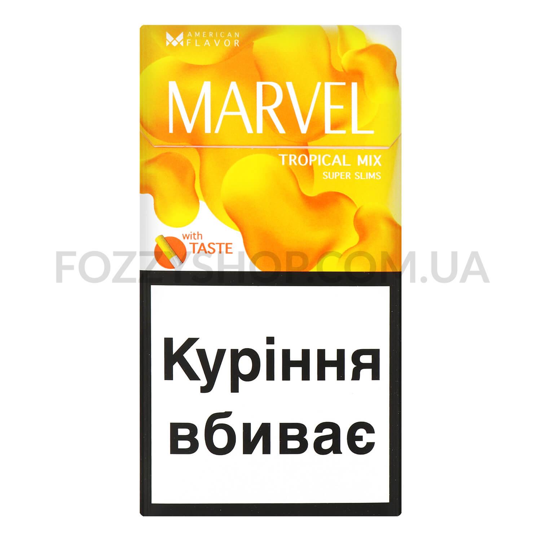 Сигарети Marvel Tropical Mix Super Slims / 'пачка