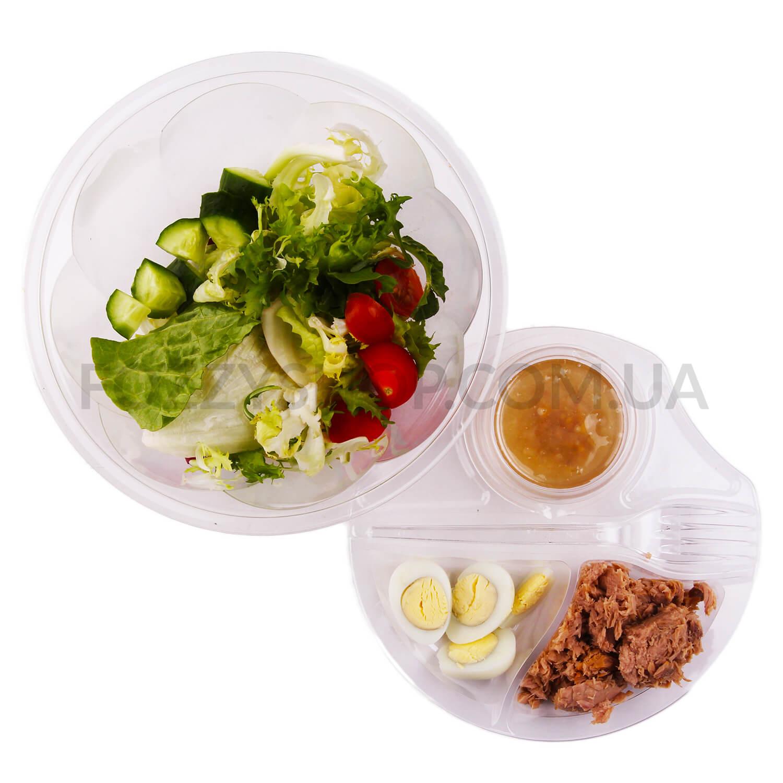 Салат 170 з тунцем та перепелиними яйцями / '170г