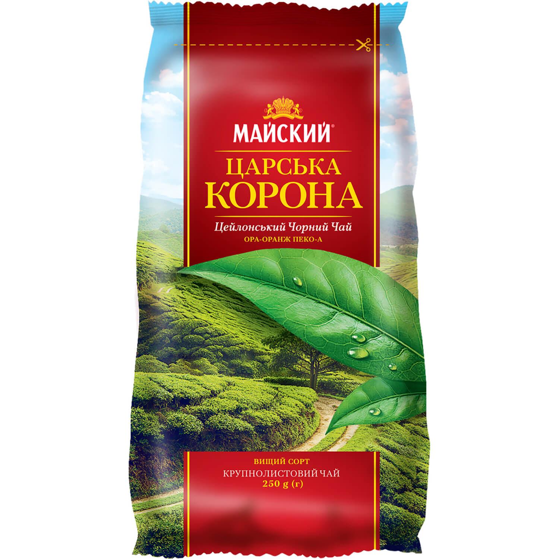 """Чай чорний """"Майский чай« Царська корона / '250г"""