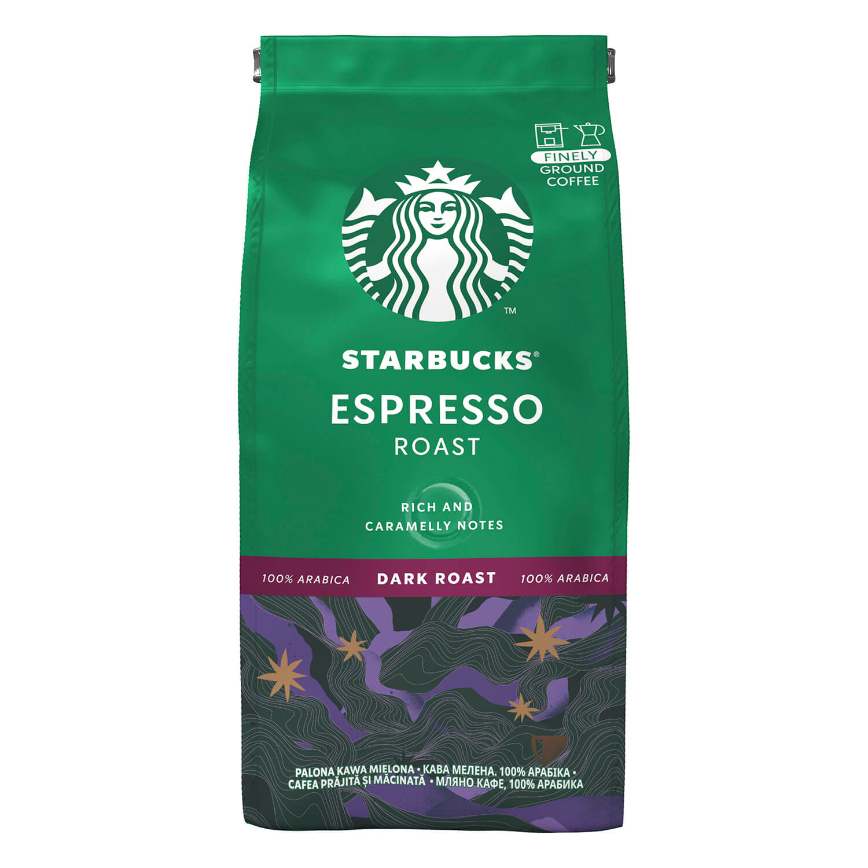 Кава мелена Starbucks Espresso Roast натуральна / '200г
