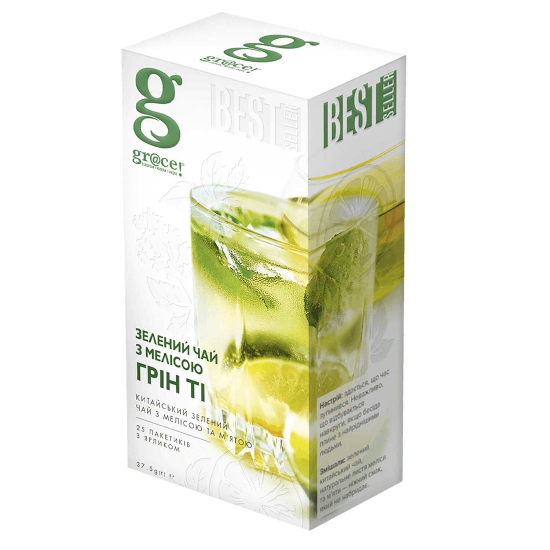 Чай зелений Gr@ce! з меліси з ярликом / '25*1,5г