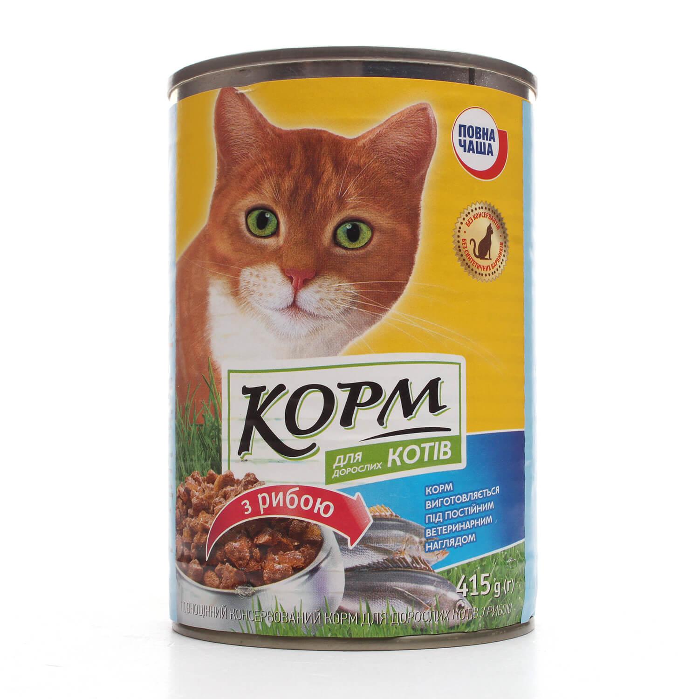 """Корм для котів """"Повна Чаша"""" з рибою / '415г"""
