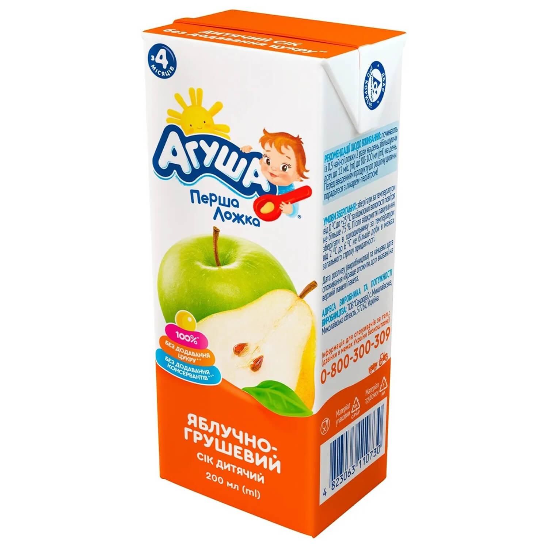 Сік Агуша яблуко-груша освітлений 0% / '200мл