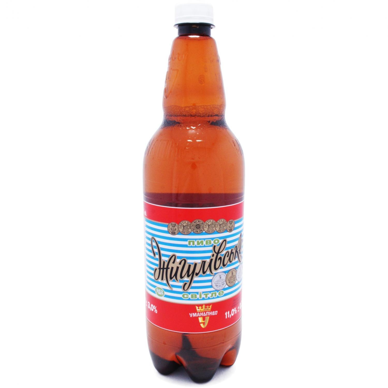 """Пиво """"Уманьпиво Жигулівське"""" світле / '1л"""