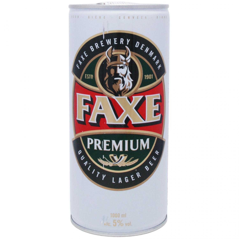 Пиво Faxe Premium світле м/б / '1л