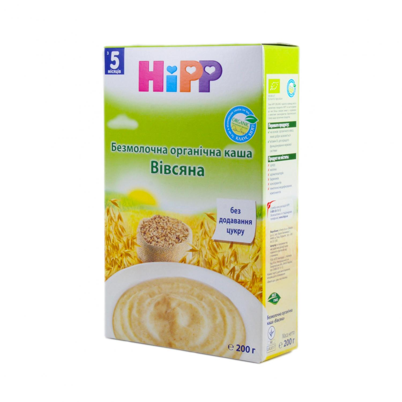 Каша вівсяна HiPP безмолочна органічна / '200г