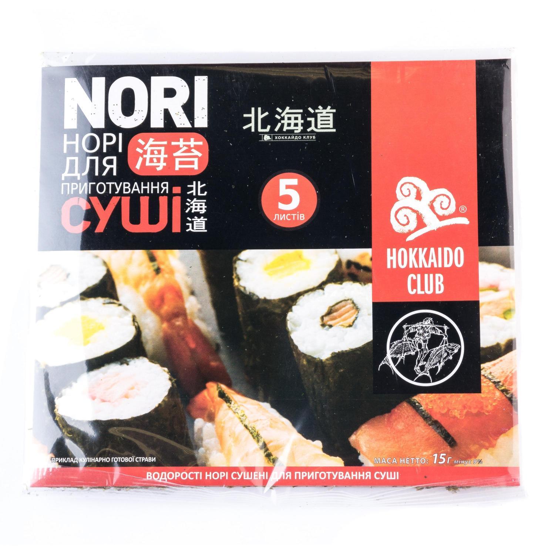 Водорості Hokkaido Club Норі для приготування суші / '15г