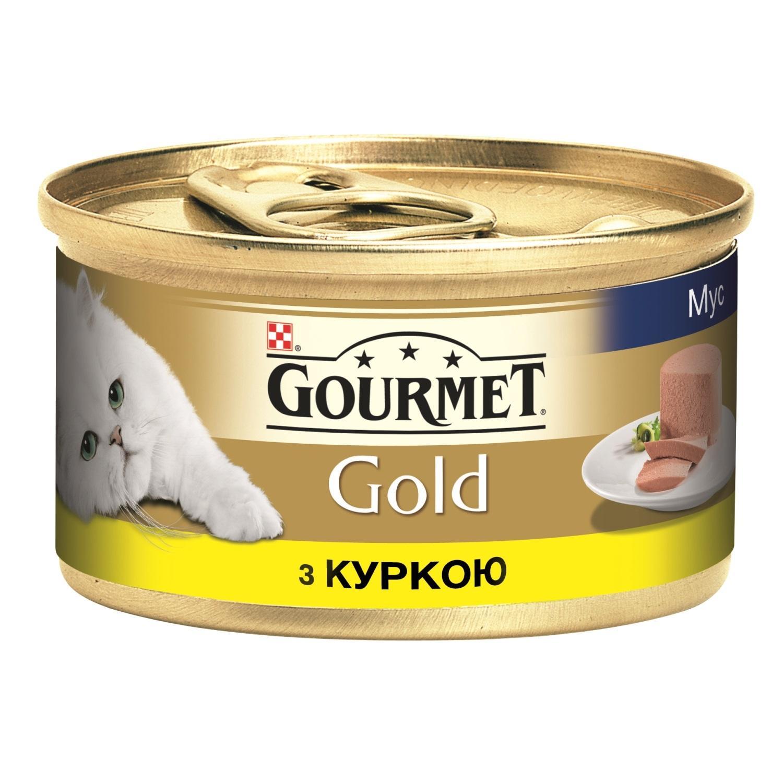 Корм Gourmet Gold паштет з курки / '85г