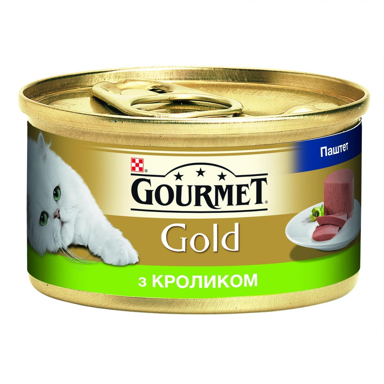 Корм для котів Gourmet Gold паштет з кролика / '85г