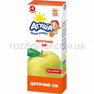 Сок Агуша яблоко осветленный с 4 месяцев