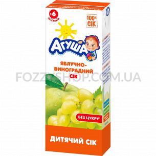 Сок Агуша яблоко-виноград осветленный 0%