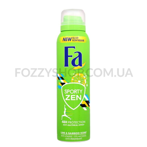 Дезодорант-спрей Fa Sporty Zen аромат лайма-бамбук