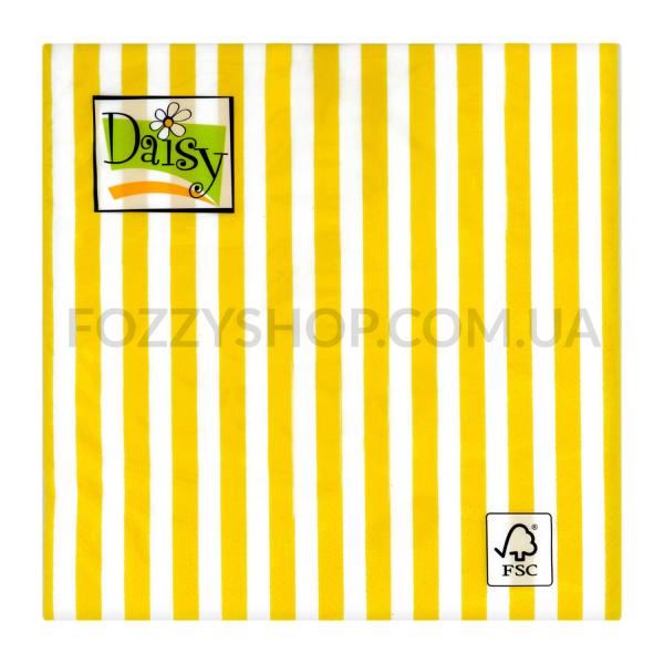 Салфетки Daisy с рисунком бумажные 3-слойные D-30