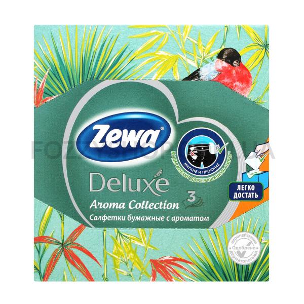 Салфетки косметич Zewa Deluxe Aroma Collection