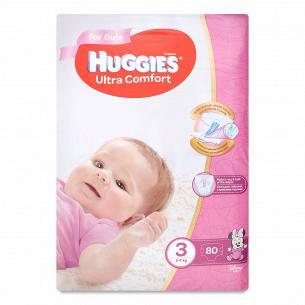 Подгузники Huggies Ultra Comfort для девочек 3 5-9кг