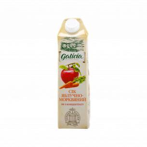 Сок Galicia яблочно-морковный прямого отжима