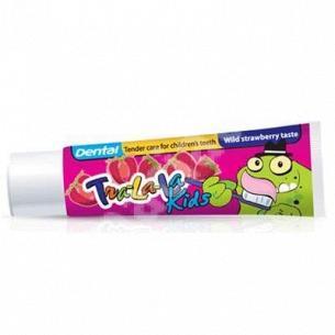 Паста зубная Dental Tra-La-La клубника детская