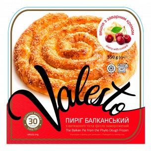 Пирог Valesto Балканский вишня с зав кремом лоток