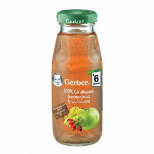 Сок Гербер яблочно-виноградный с шиповником 175мл