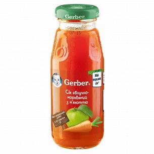 Сок Гербер яблочно-морковный с мякотью 175мл