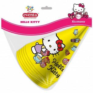 Колпаки Eventa Hello Kitty бумажные d13см