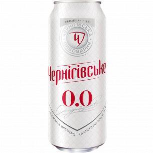"""Пиво """"Чернігівське"""" безалкогольное ж/б"""