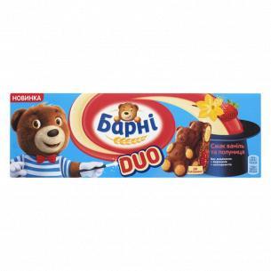 Бисквит Барні клубника-ваниль