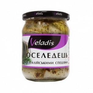 Сельдь Veladis филе в масле с итал специями с/б