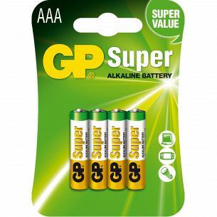Батарейки GP SUPER 24A-U4шт, ААА