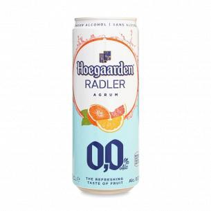 Пиво Hoegaarden Radler agrum светлое б/а ж/б