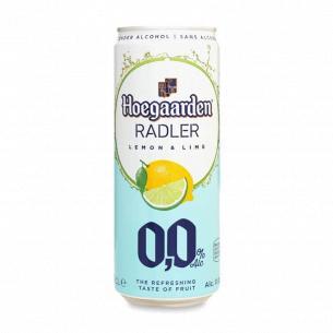 Пиво Hoegaarden Radler lemon&lime светлое б/а ж/б