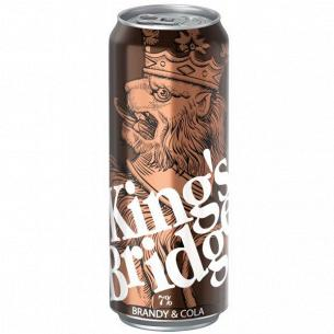 Напиток слабоалкогол King`s Bridge Бренди Кола ж/б