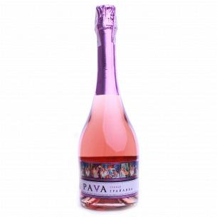 Вино газированное Pava ГрайливаЗемлян розов п/слад