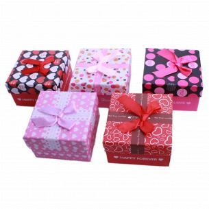 Коробка подарочная в ассортименте 9х9х5,5cm (см)