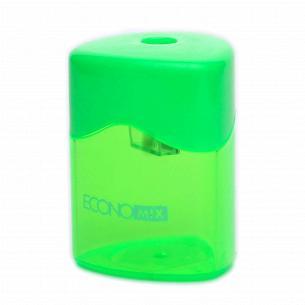 Точилка пластиковая Economix треугольная с контейнером