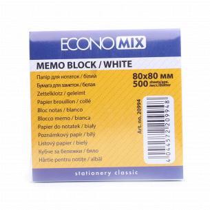 Бумага для заметок Economix 80х80мм 500л